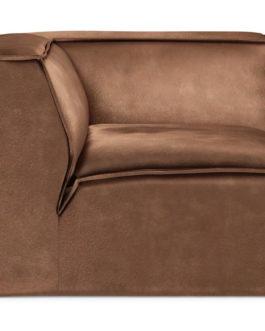 Rivièra Maison Modulaire Bank 'The Jagger' Corner, Velvet, kleur Chocolate