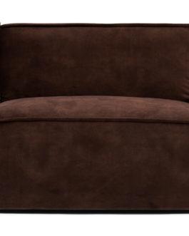Rivièra Maison Modulaire Bank 'The Jagger' Center 95cm, Velvet, kleur Chocolate