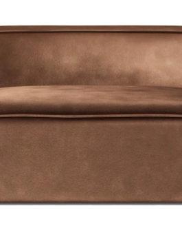 Rivièra Maison Modulaire Bank 'The Jagger' Center 125cm, Velvet, kleur Chocolate