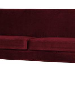 WOOOD Bank 'Rocco' 2,5-zits, Velvet, kleur Rood