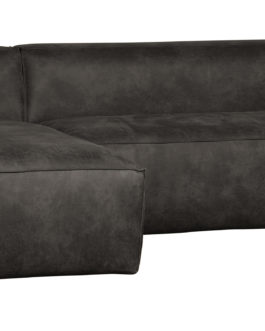 WOOOD Loungebank 'Bean' Links, kleur Zwart