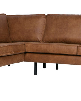 BePureHome Loungebank 'Rodeo' Links, kleur Cognac