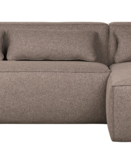 WOOOD Exclusive Loungebank 'Bean' Rechts, kleur Taupe Gemeleerd