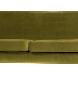 WOOOD Bank 'Rocco' 4-zits, Velvet, kleur Olive