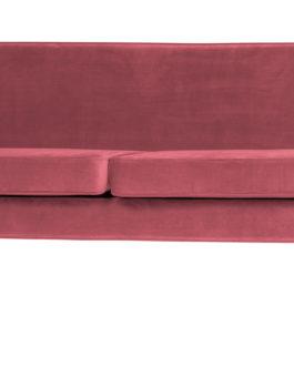 WOOOD Bank 'Rocco' 4-zits, Velvet, kleur Roze