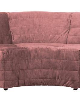 WOOOD Exclusive Bank 'Bag' Hoekelement, Velvet, kleur Roze