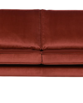 BePureHome Bank 'Rodeo' 2,5-zits, Velvet, kleur Chestnut