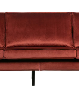 BePureHome Bank 'Rodeo' 3-zits, Velvet, kleur Chestnut