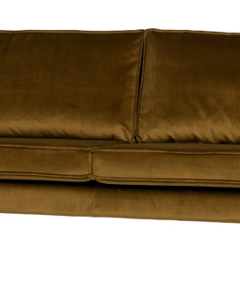 BePureHome Bank 'Rodeo' 2,5 zits, Velvet, kleur Honey (geel)