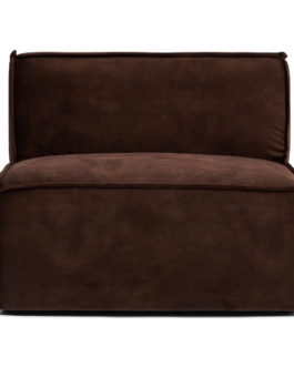 Rivièra Maison Modulaire Bank 'The Jagger' Center 95cm, Velvet, kleur Chocolate